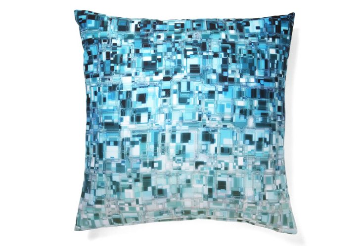 Mondrian 20x20 Pillow, Blue