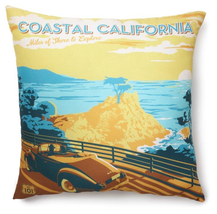 Coastal California 20x20 Pillow, Multi