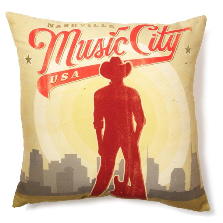 Music City 20x20 Pillow, Multi