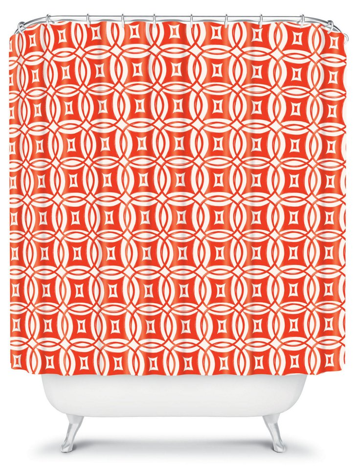 Twilight Shower Curtain, Red