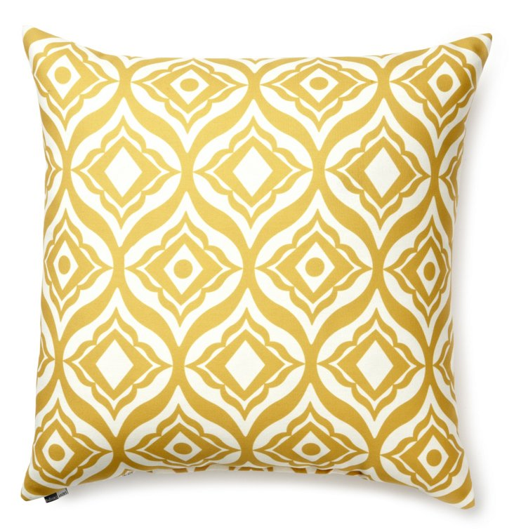 Trevino 20x20 Outdoor Pillow, Yellow