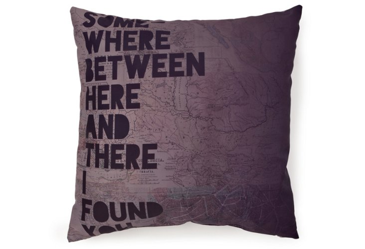 """""""Here and There"""" 20x20 Pillow, Multi"""