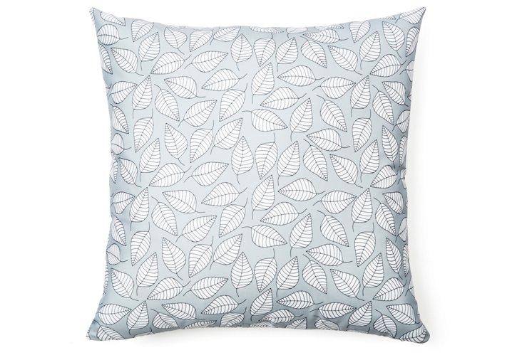 Leafy 20x20 Pillow, Gray