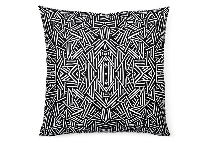 Radiate 20x20 Pillow, Black/White