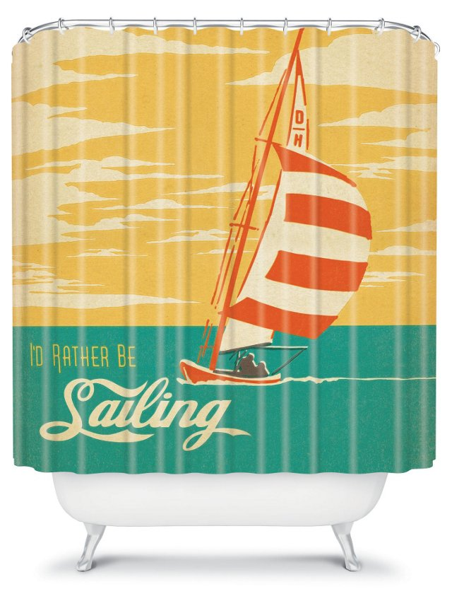 Anderson Sailing Shower Curtain