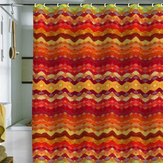 Amy Tribal Diamonds Shower Curtain, Red