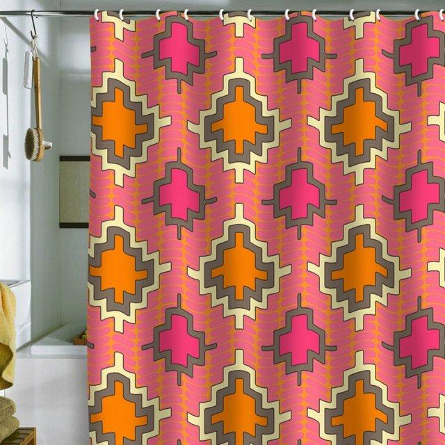 Turner Kilim Shower Curtain, Tangerine