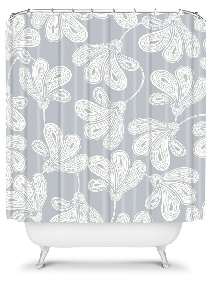 Howell Provencal Shower Curtain, Gray