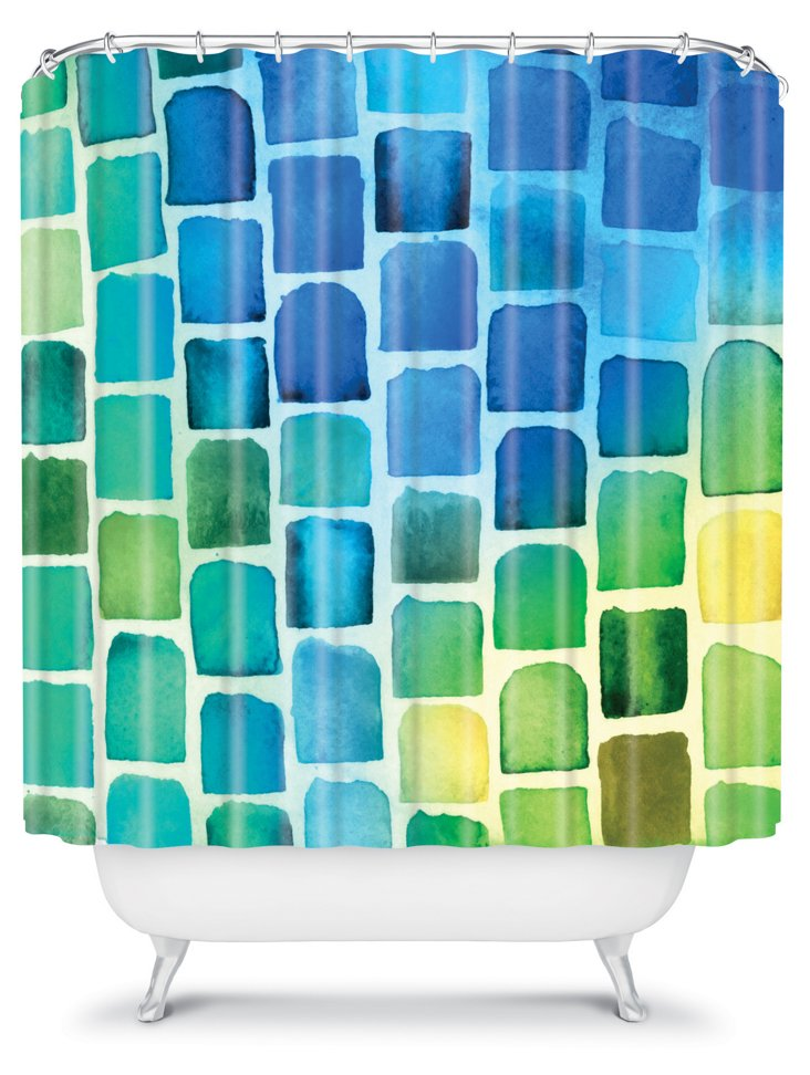 Squaresville Shower Curtain