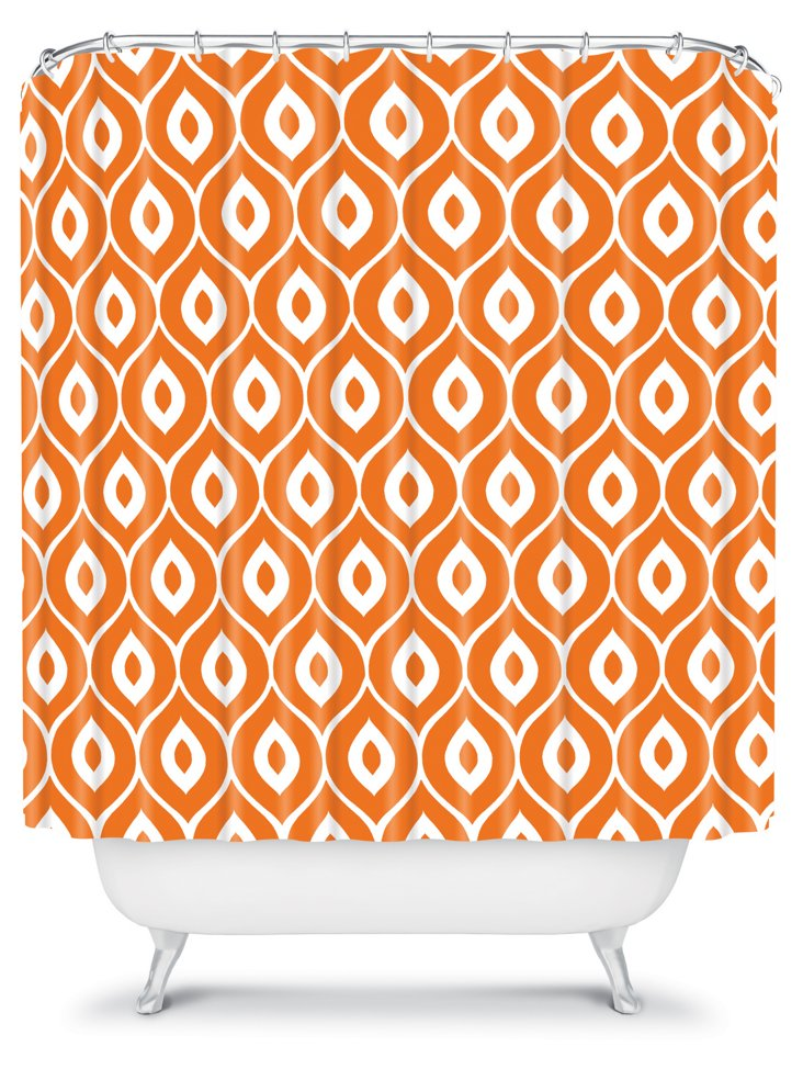 Leela Shower Curtain, Orange