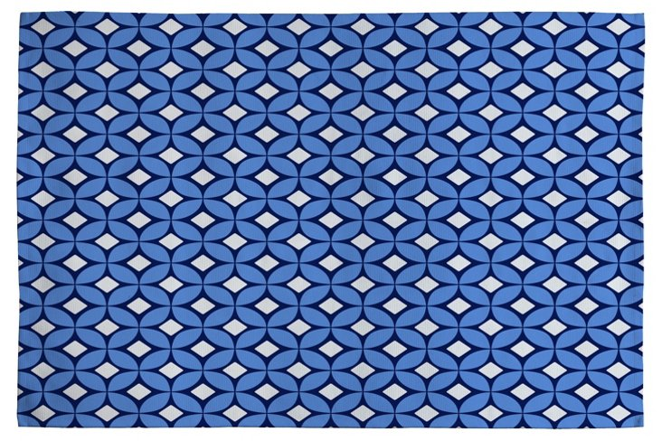 Woven Rug, Blueberry