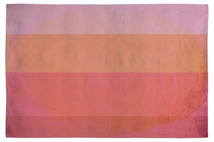 Love In Color Woven Rug, Salmon