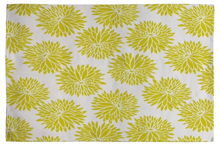 High Society Woven Rug, Yellow