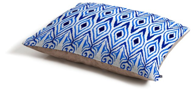 Ikat Dog Bed, Blue
