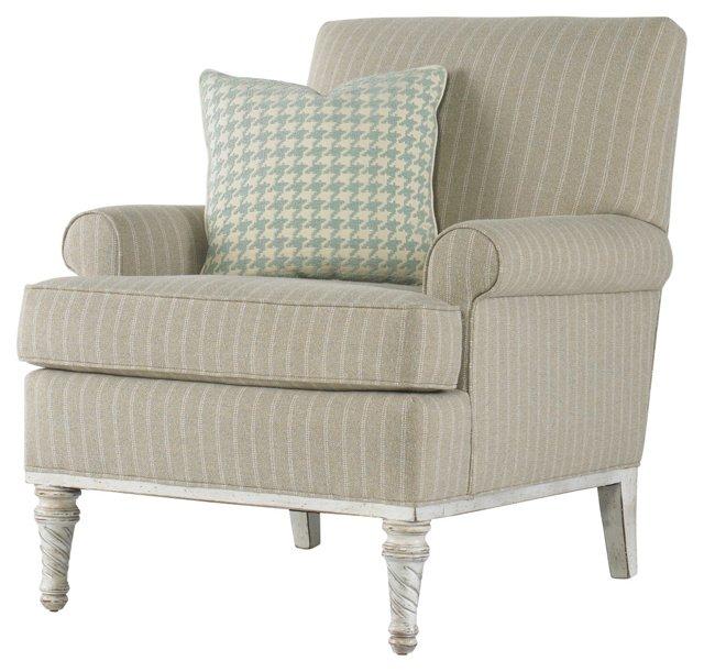 Sarah Club Chair, Beige