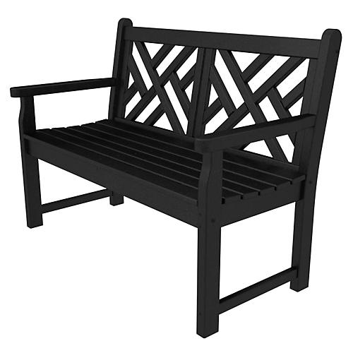 Chippendale Bench, Black