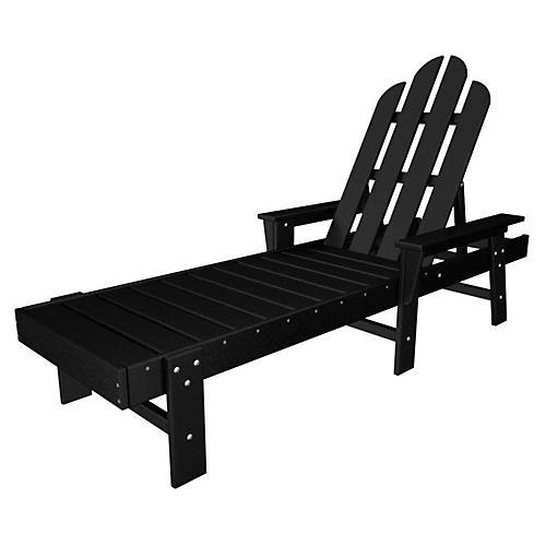 Long Island Chaise, Black