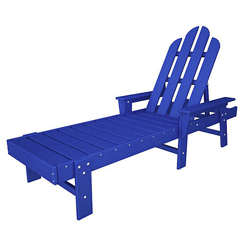 Long Island Chaise, Pacific Blue