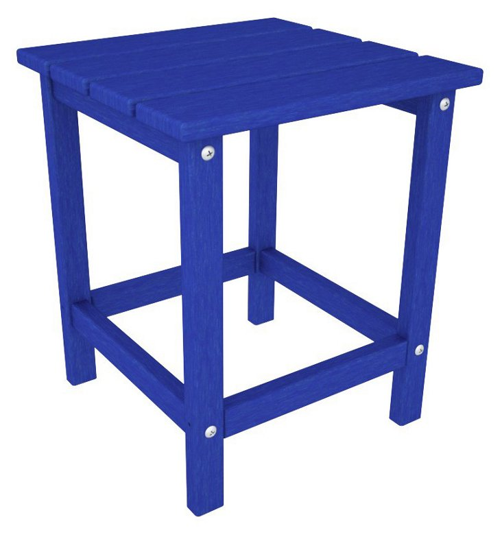 Hyannis Side Table, Pacific Blue