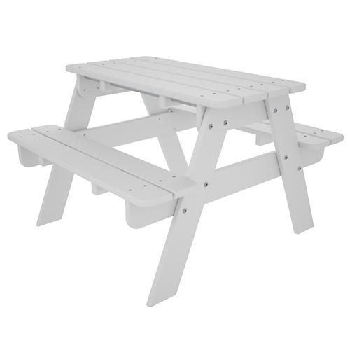 Kids' Picnic Table, White
