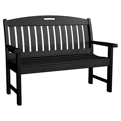 Nautical Bench, Black