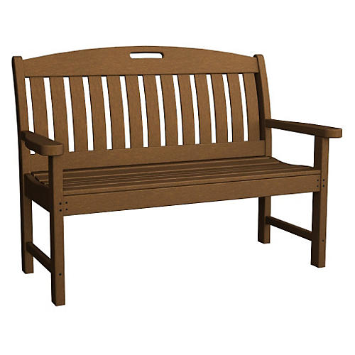Nautical Bench, Teak