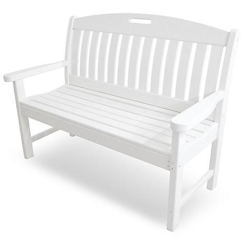 Nautical Bench, White