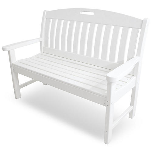 Nautical Bench, White