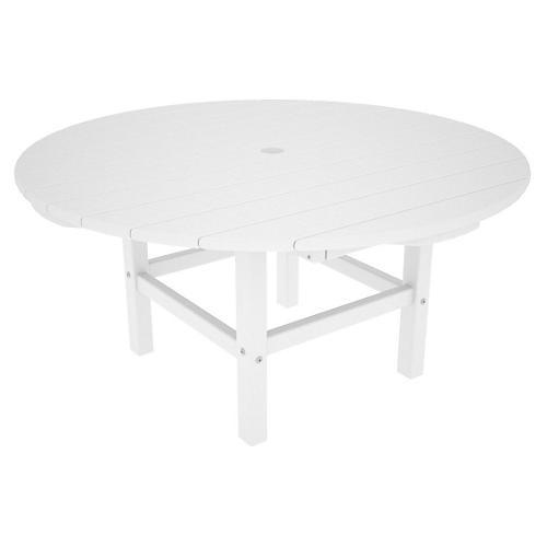 Round Conversation Table, White