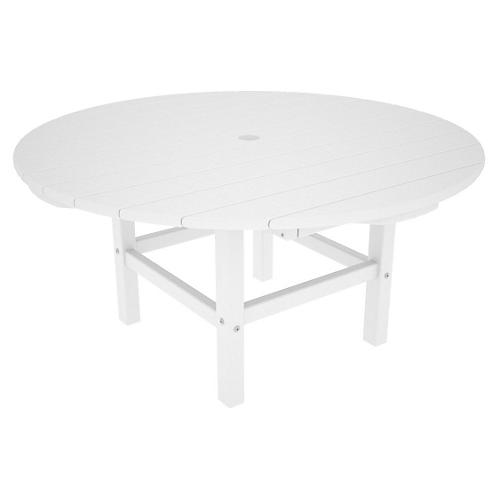 Round Conversation Table, White