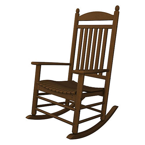 Jefferson Teak Rocker, Brown