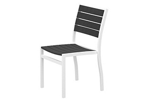 Ibiza Dining Side Chair, White/Gray