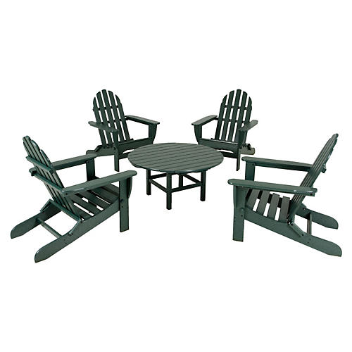 Green Adirondack 5-Pc Conversation Set