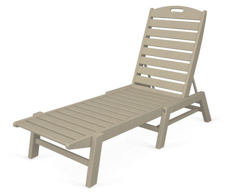 Nantucket Stackable Chaise, Sand