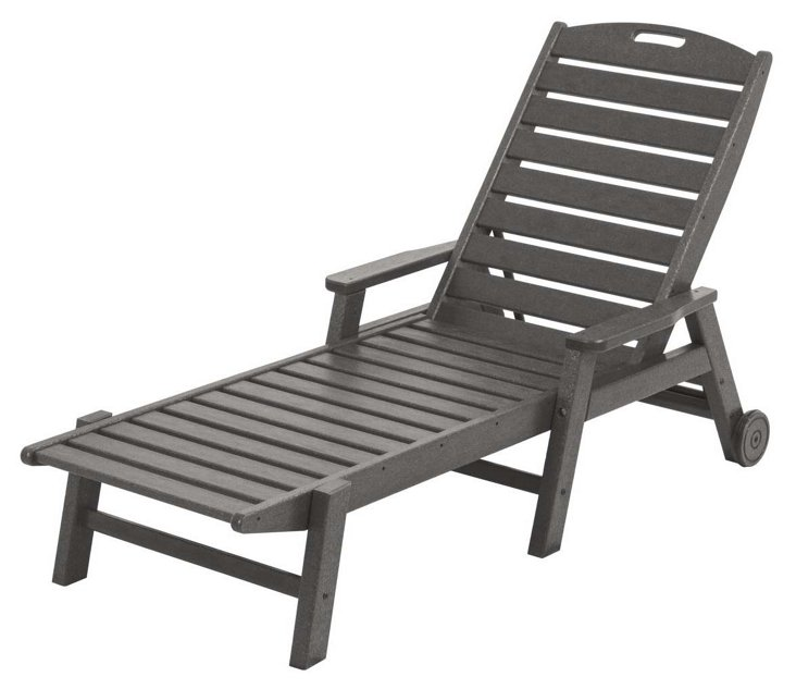 Nantucket Stackable with Arms, Slate Gray