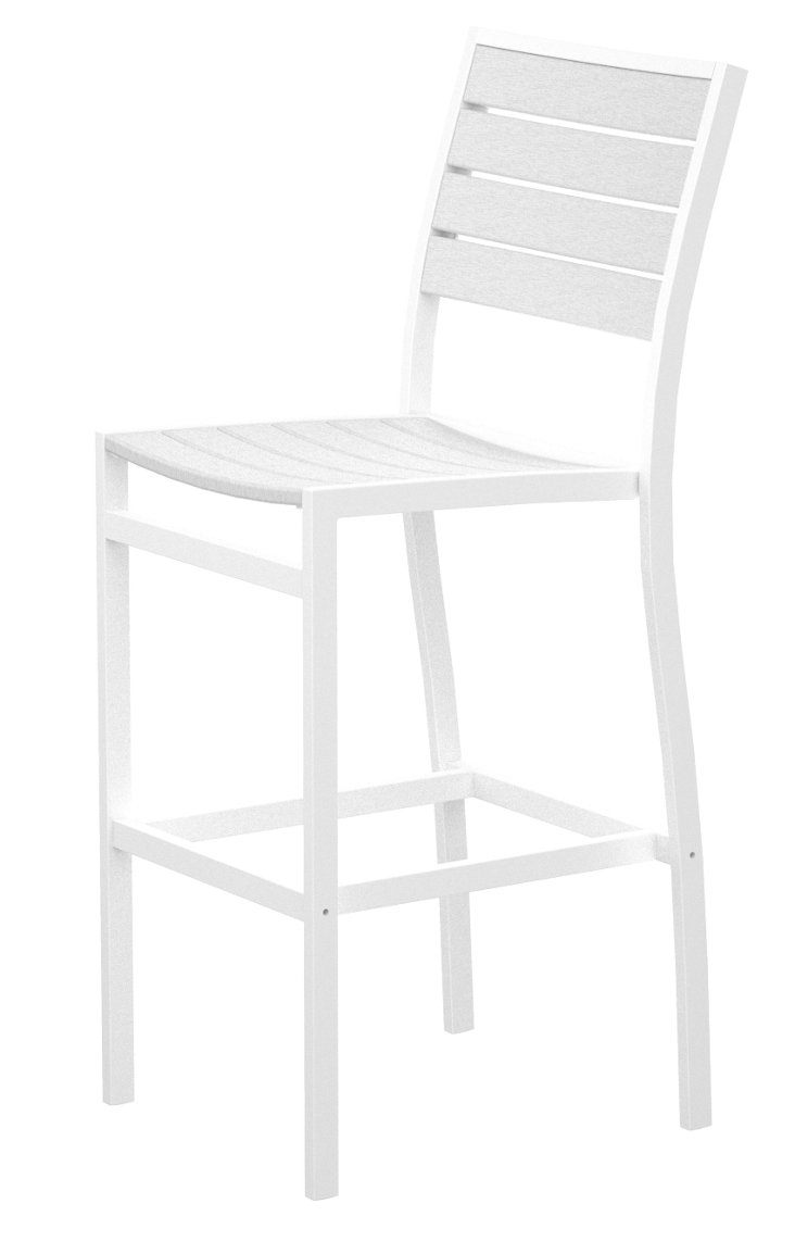 San Mateo Bar Chair, White