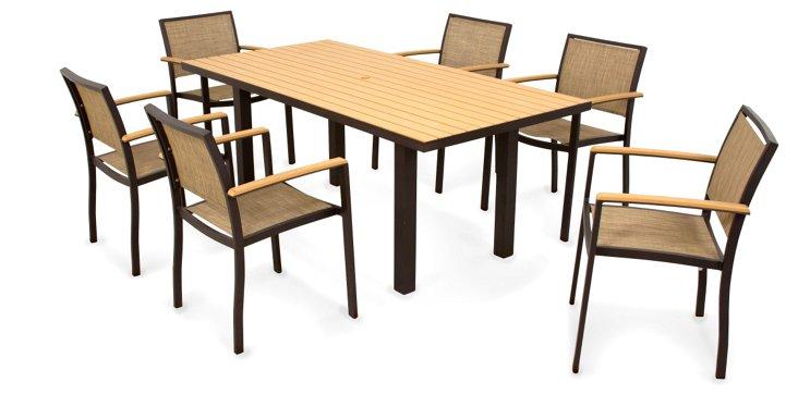 Burlap Bay 7-Piece Dining Set