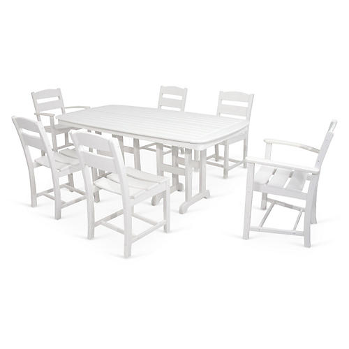Ivy Terrace 7-Pc Dining Set, White