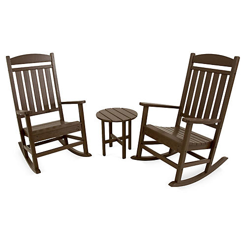 Ivy Terrace 3-Pc Rocker Seating Set, Mahogany