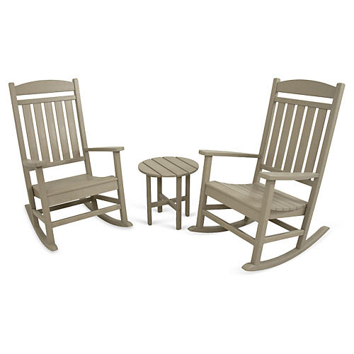 Ivy Terrace 3-Pc Rocker Seating Set, Sand