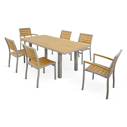 Ivy Terrace 7-Pc Loft Dining Set, Silver