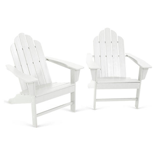 Long Island 2-Pc Lounge Set, White