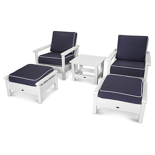 harbour 5pc lounge navy