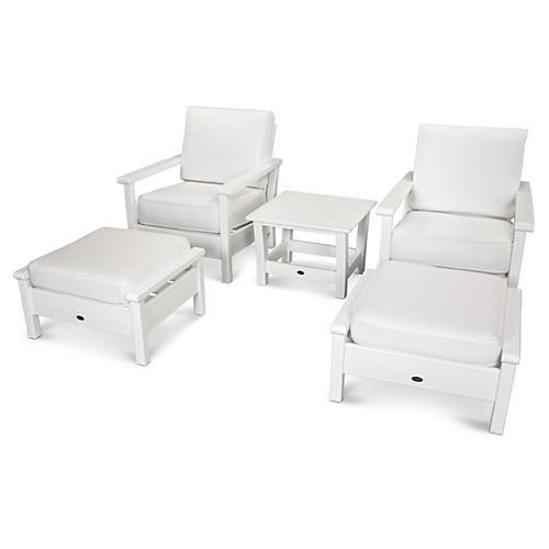 Harbour 5-Pc Lounge Set, White