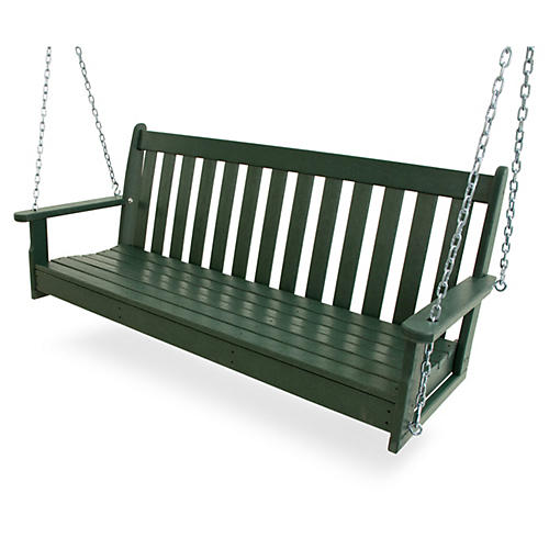 "60"" Vineyard Swing, Green"