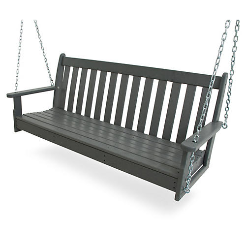 Vineyard Porch Swing Gray