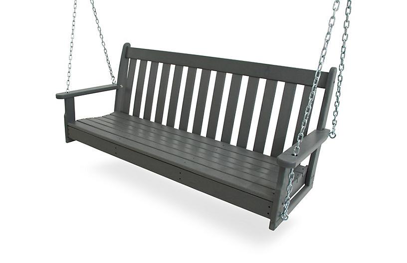 Vineyard Porch Swing - Gray - Polywood