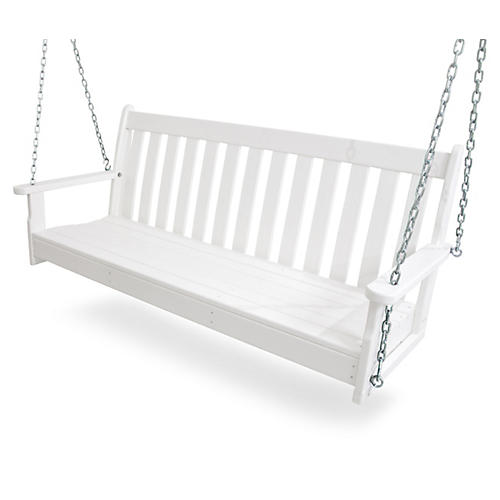"60"" Vineyard Swing, White"