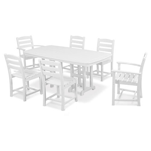 La Casa Café 7-Pc Dining Set, White