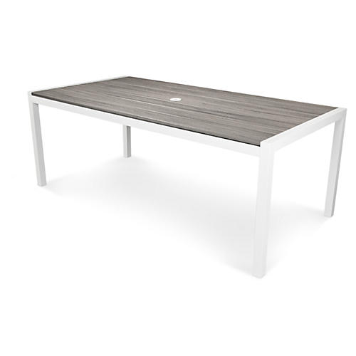 Trex Harvest Dining Table, Gray/White